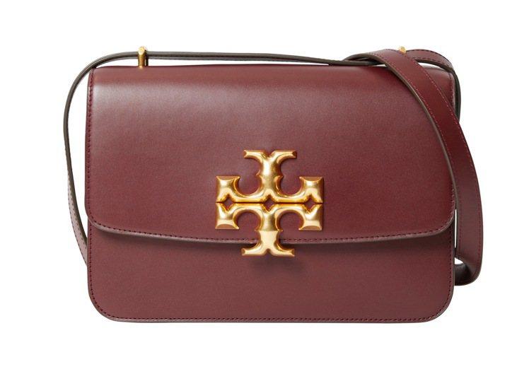 Eleanor系列酒紅色肩背包,29,900元。圖/Tory Burch提供