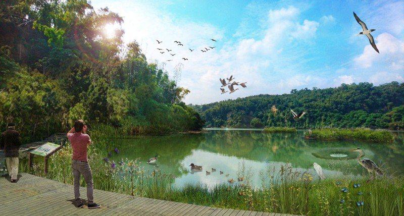 水鳥景觀區模擬圖。圖/高市府觀光局提供