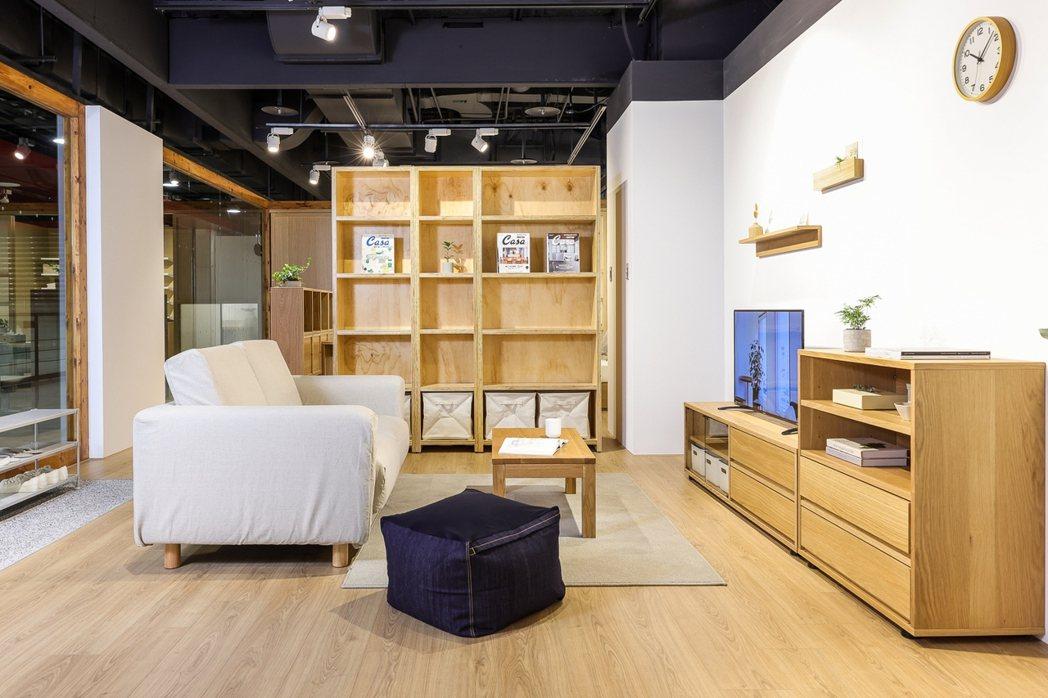 客廳空間提案。 圖/無印良品提供