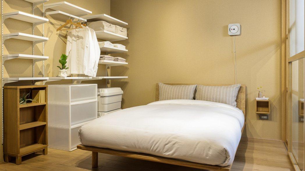 臥室空間提案。 圖/無印良品提供