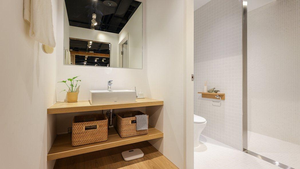乾溼分離的浴廁生活空間提案。 圖/無印良品提供