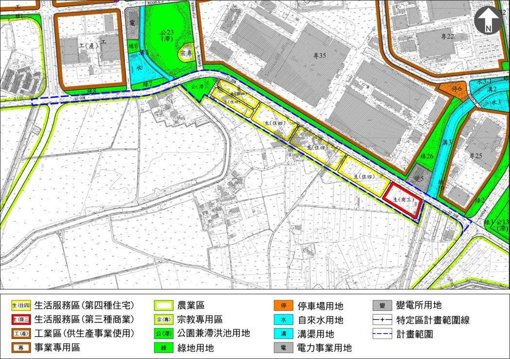 台南科學工業園區特定區計畫(不含科學園區部分)(新市區建設地區開發區塊I)細部計...