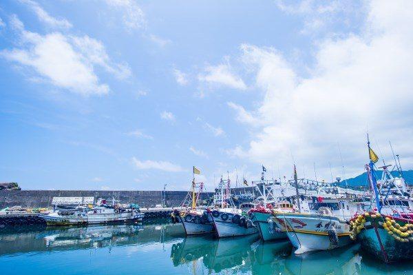 「五漁村」之一的大溪漁港。圖/東北角暨宜蘭海岸管理處提供