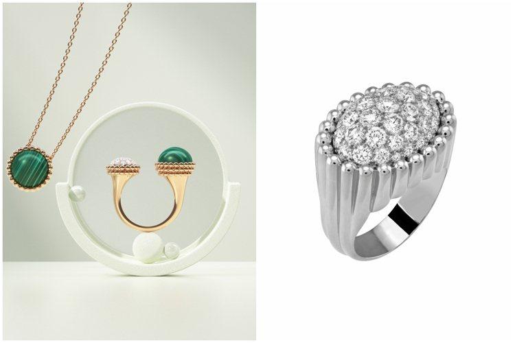 梵克雅寶Perlée推出全新戒指作品與藝術家的形象短片。圖/梵克雅寶提供