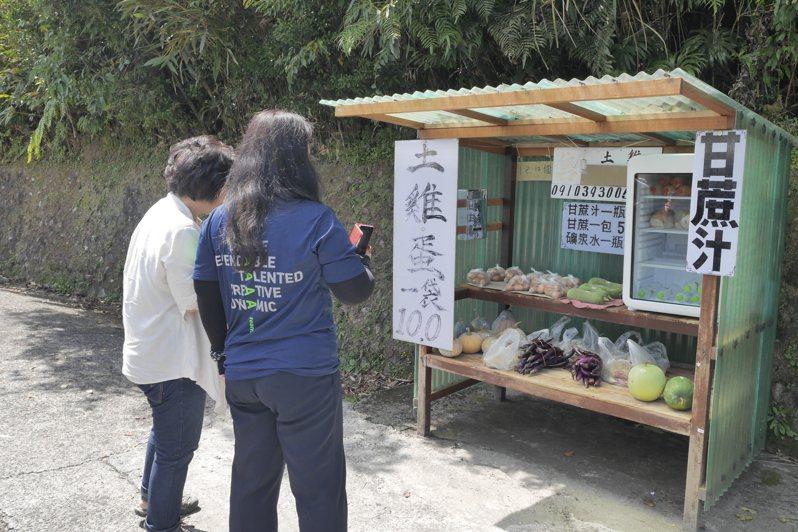 雙溪誠實菜攤一條街,曾被旅遊作家劉克襄喻為最美麗的風景之一。記者吳淑君/攝影