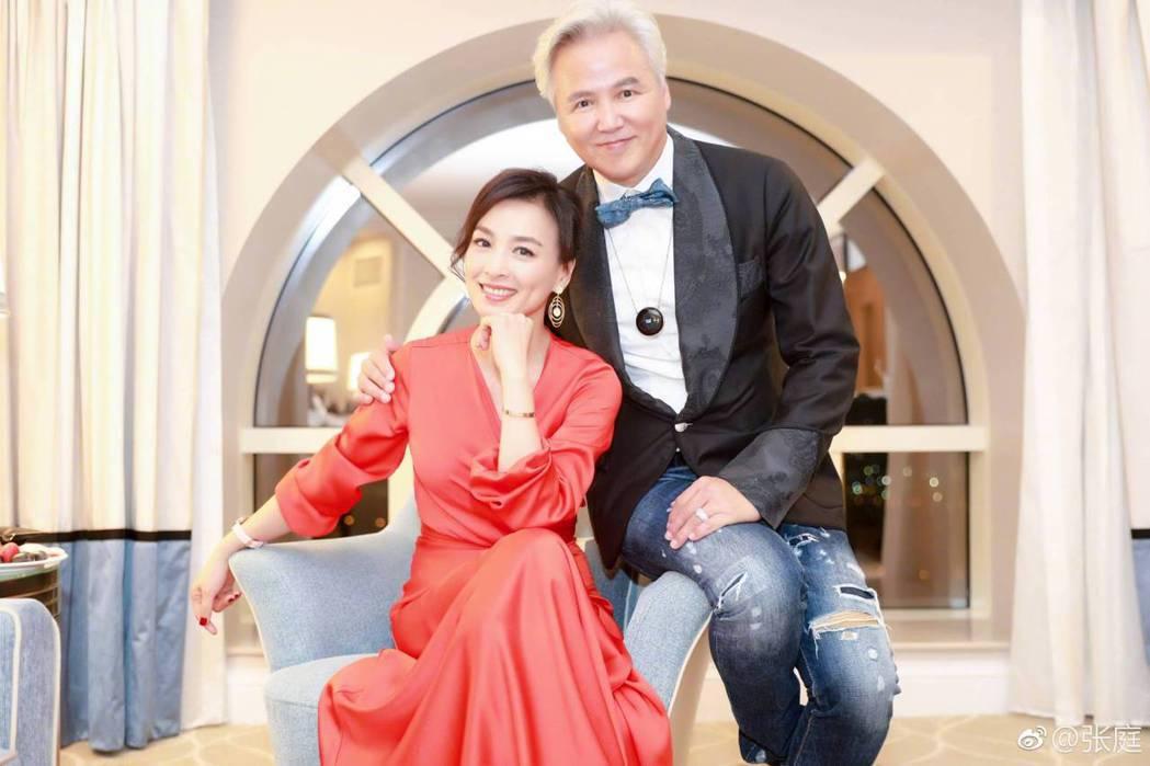 張庭(左)與林瑞陽身家逾1500億元台幣。圖/摘自微博