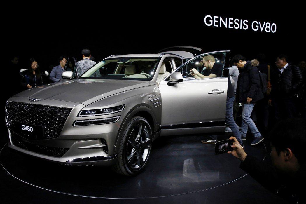 Genesis今年推出的新款運動休旅車GV80。路透