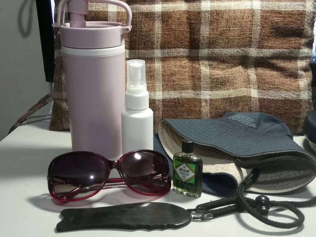 炎炎夏日,隨身攜帶一些防暑小物,有備無患。圖/郎英提供