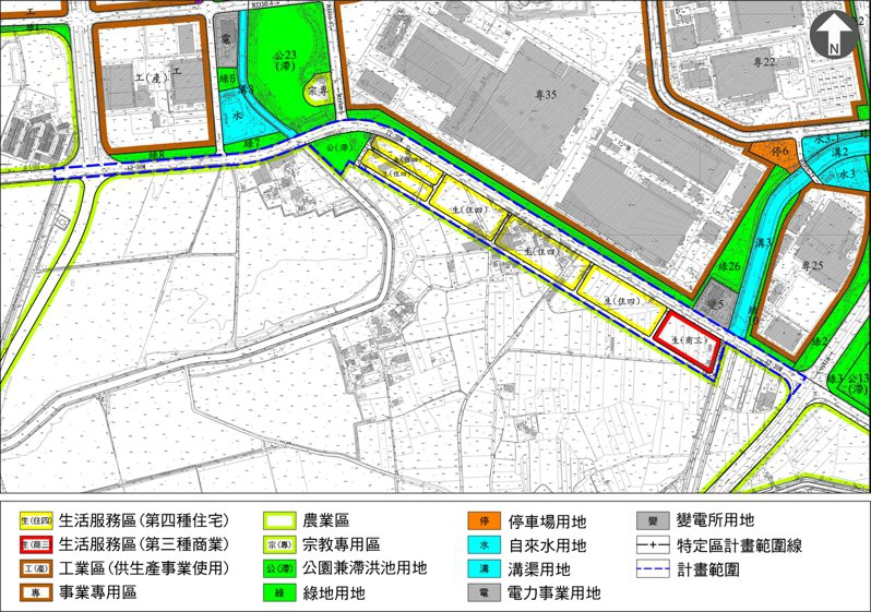 台南市政府目前完成南科特定區南側I區的變更審議,送內政部持續審查。圖/都發局提供