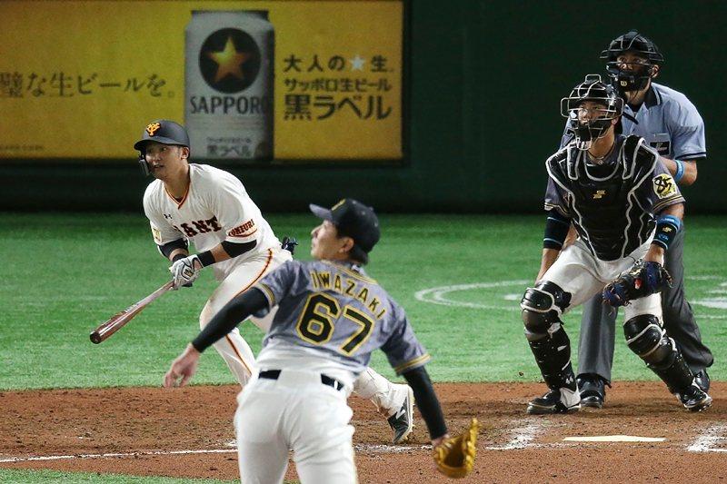 讀賣巨人vs.阪神虎,攝於6月19日,東京巨蛋。 圖/法新社
