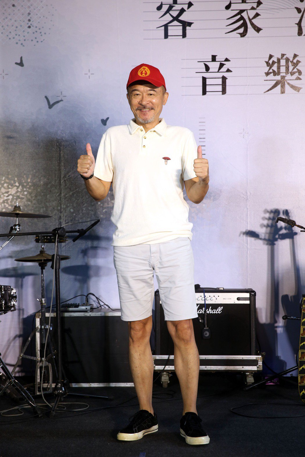 黃連煜出席「2020客家流行音樂大賽」記者會。記者邱德祥/攝影