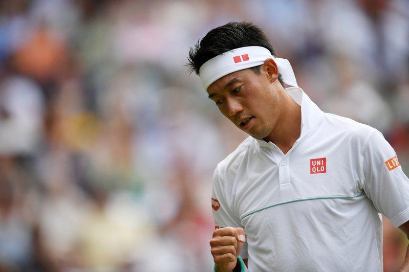日籍網球好手錦織圭確診新冠肺炎,能否參加美網成為未知數。(路透)