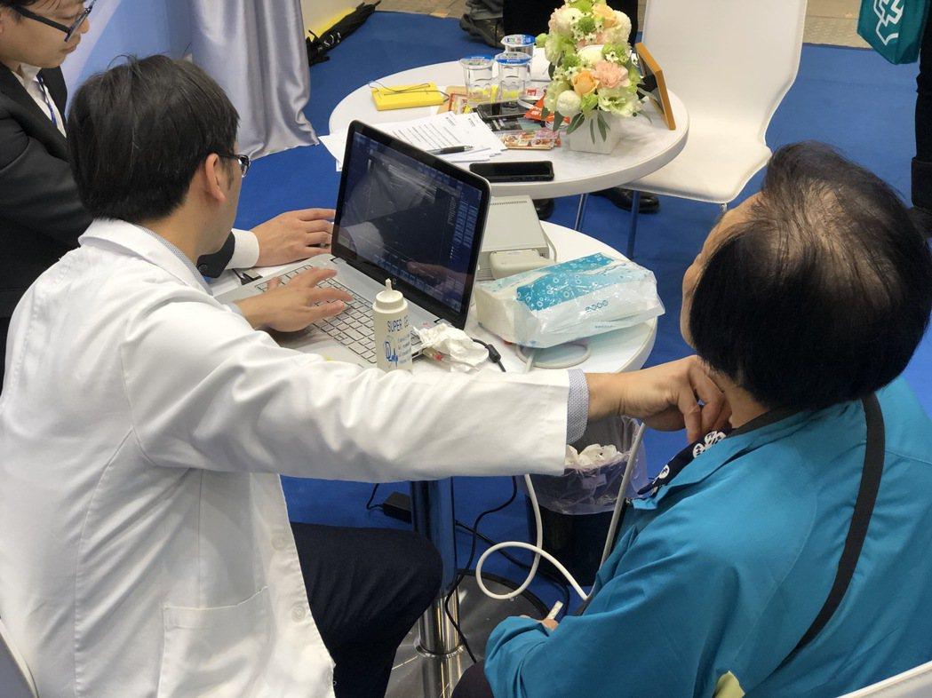 安克生醫研發上市的甲狀腺影像醫材,能快速提供醫師判讀性更佳的智慧分析建議。圖/安...