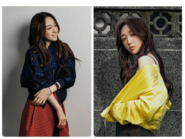 歌手王敏淳詮釋夏姿2020早秋系列。圖/夏姿提供
