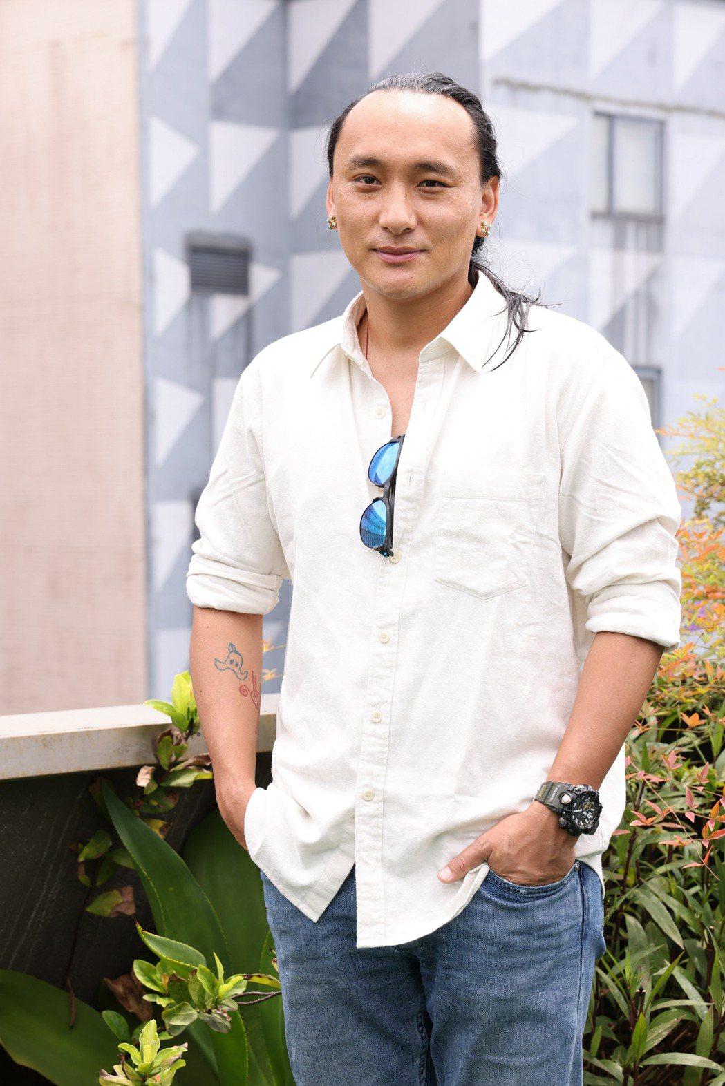 「不丹是教室」導演巴沃接受聯訪。圖/記者季相儒攝
