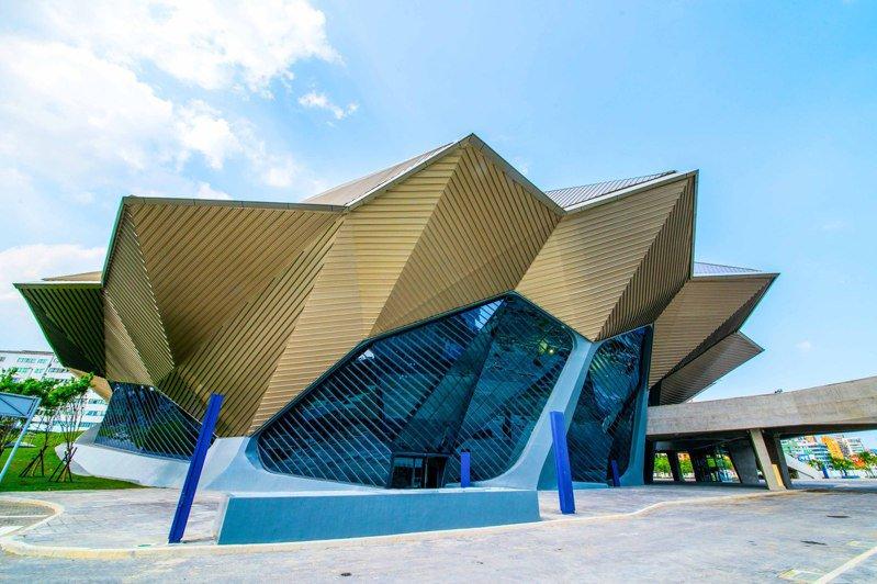 台北流行音樂中心外型取自台灣山巒線條。圖/台北流行音樂中心提供
