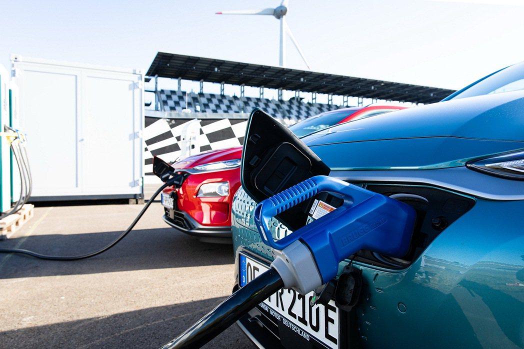 參與續航力測試的三輛Hyundai Kona Electric,單趟距離皆超過了...