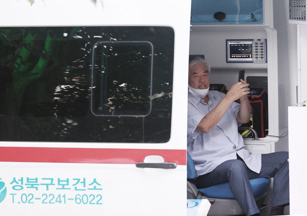 自新冠病毒疫情爆發後,全光焄(圖)多次強行在首爾市中心舉行具政治性的戶外集會,動...