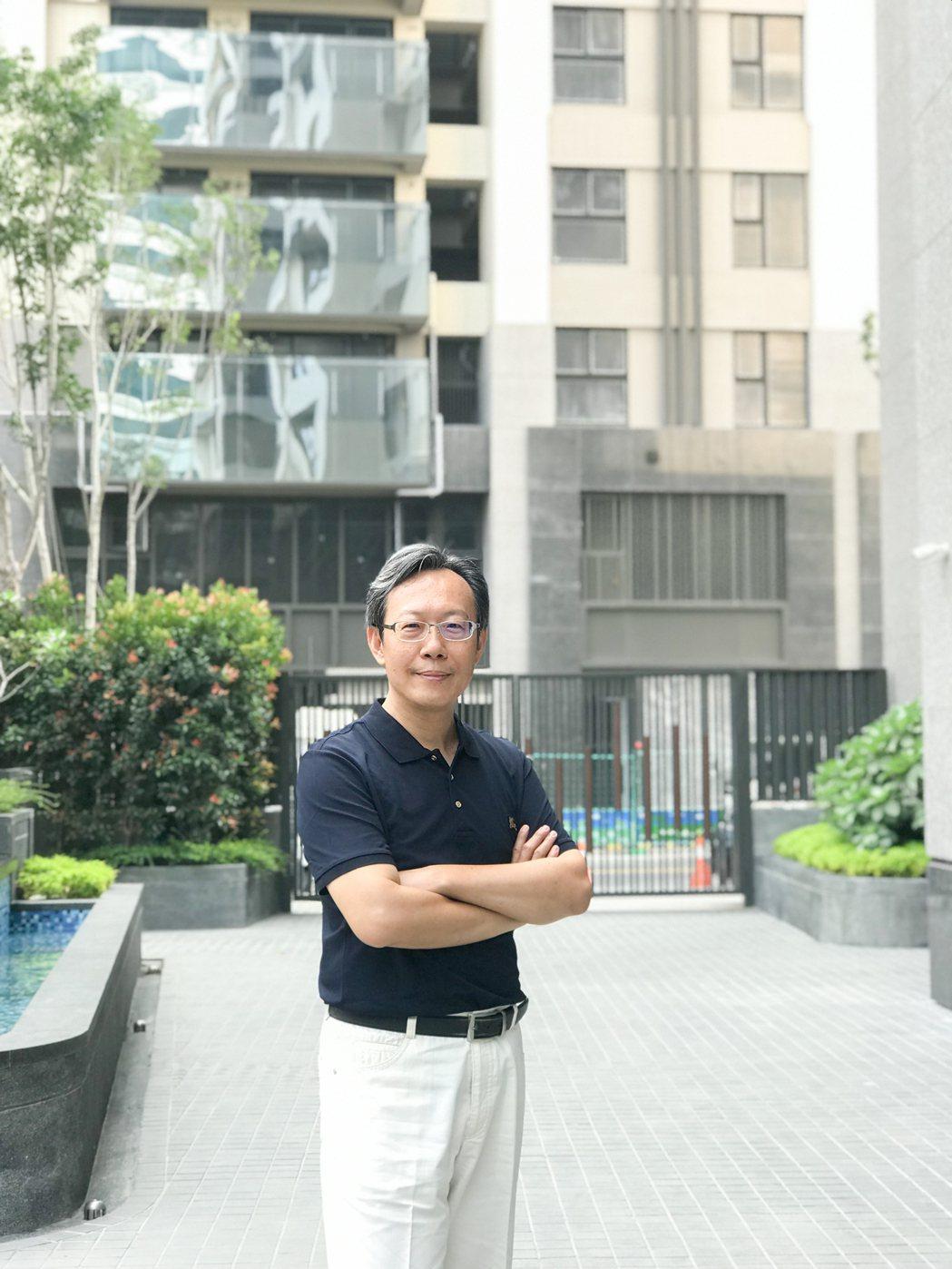 「國泰聚」建築師羅仲廷。 攝影/張世雅