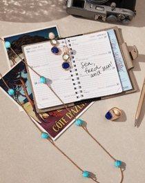 洋溢夏季情調的蔚藍海愛賦予FRED諸多的創作靈感。 圖/斐登提供