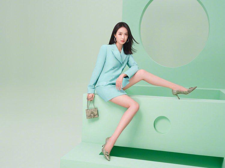 宋茜主演Jimmy Choo七夕情人節系列形象廣告。圖/Jimmy Choo提供