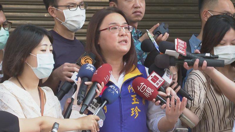 國民黨立委陳玉珍。記者龔盈全/攝影