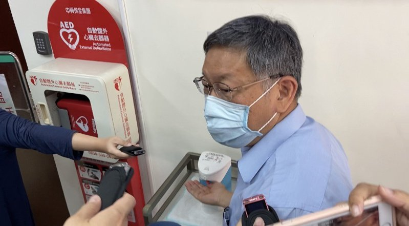 台北市長柯文哲表示,陳景峻被移送是民進黨內鬥。記者蔡晉宇/攝影
