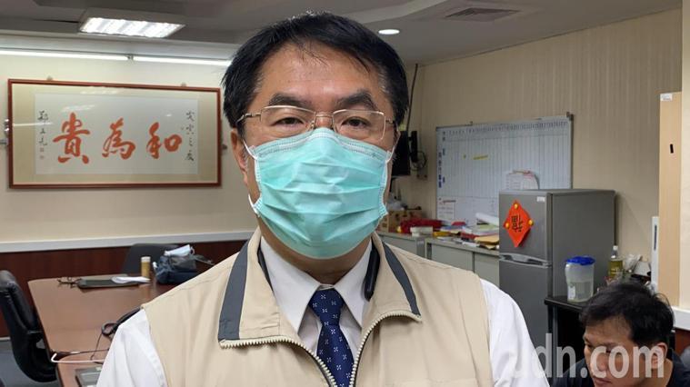 台南市長黃偉哲建議,為了防疫,國門先暫時不要開放。記者鄭維真/攝影