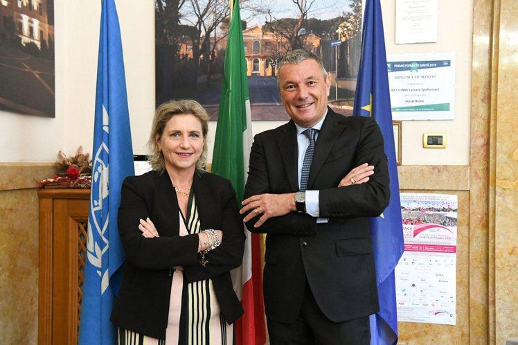 寶格麗全球總裁暨執行長Jean-Christophe Babin與羅馬Lazza...