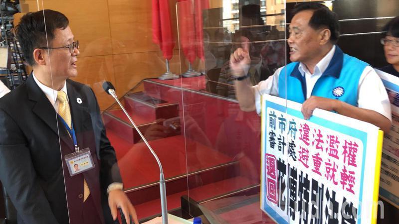 台中市議會國民黨議員指台中審計處提出花博預算,避重就輕,主張退回。記者陳秋雲/ 攝影