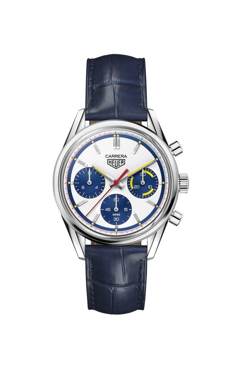 泰格豪雅Carrera 160周年復刻計時碼表,限量1,000只,不鏽鋼表殼,約...