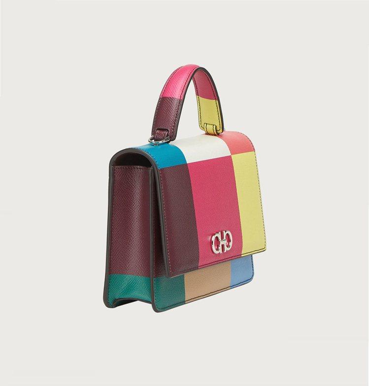 Gancini彩虹牛皮提包,40,900元。圖/Salvatore Ferrag...