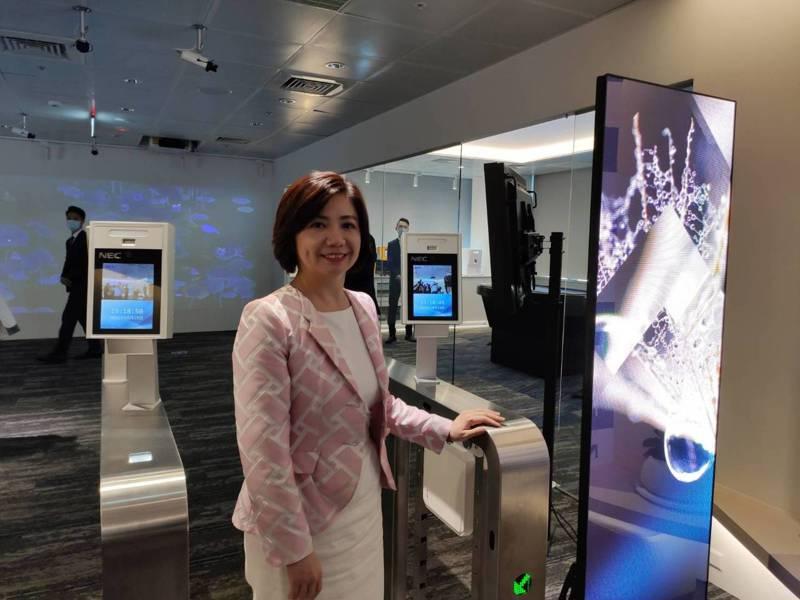 台灣NEC總經理賴佳怡強調,台灣卓越中心的啟用,能快速將全球NEC的經驗引進台灣,協助政府、金融、零售、製造等跨領域客戶加快轉型腳步,與國際接軌。記者張義宮/攝影