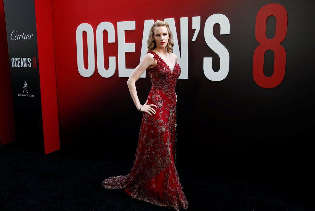 夏綠蒂寇克出席「瞞天過海:八面玲瓏」首映會,傳演出機會是靠身體交換得來。圖/路透...