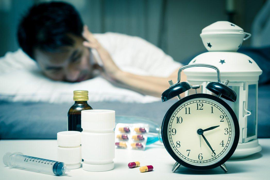 鎮靜安眠藥示意圖。圖╱123RF