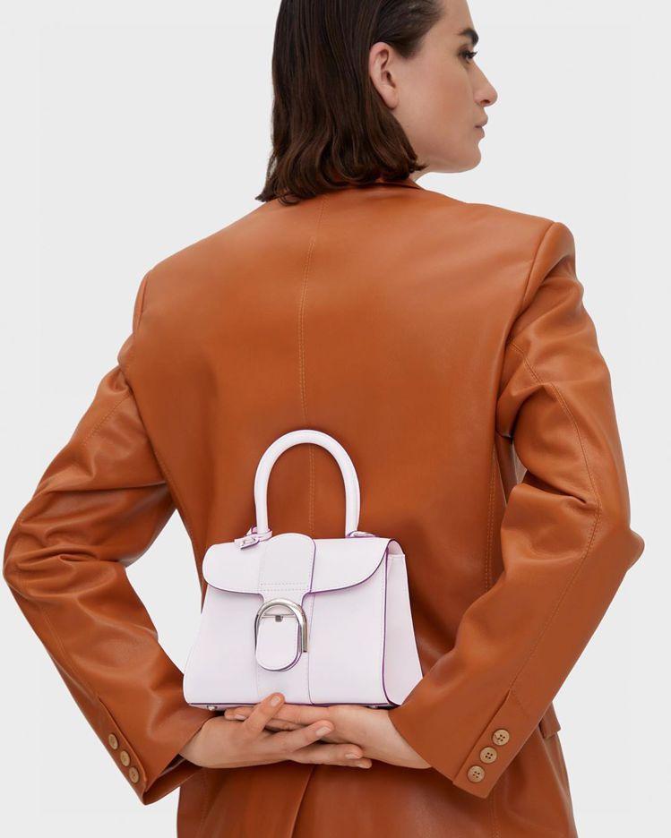 Brillant絲緞薰衣草小型牛皮肩背手提包,16萬8,100元。圖/DELVA...