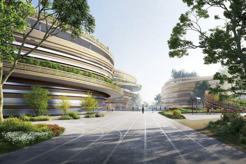 台中巨蛋預定地位於北屯區十四期重劃區,預計2022年動工,2026年完工啟用。 圖/台中市政府