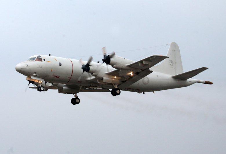 台灣P-3C海上巡邏機的巡邏時間通常是8小時。 圖/聯合報系資料照