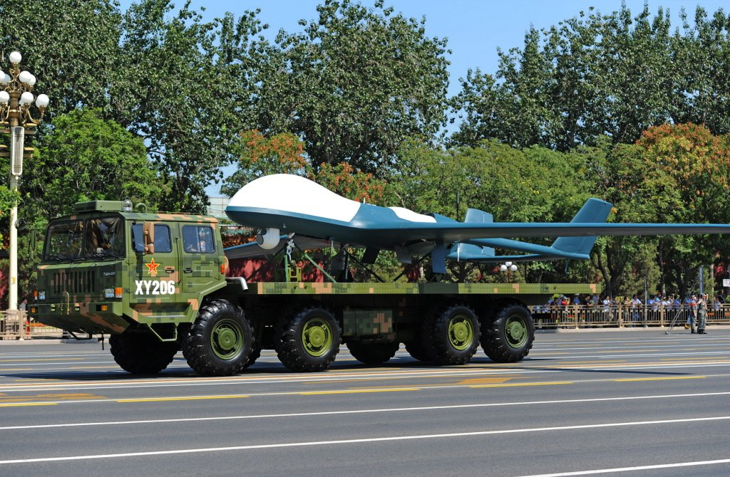 2015年,中共BZK-005長鷹大型長程無人機參加抗戰勝利70周年閱兵。 圖/新華社