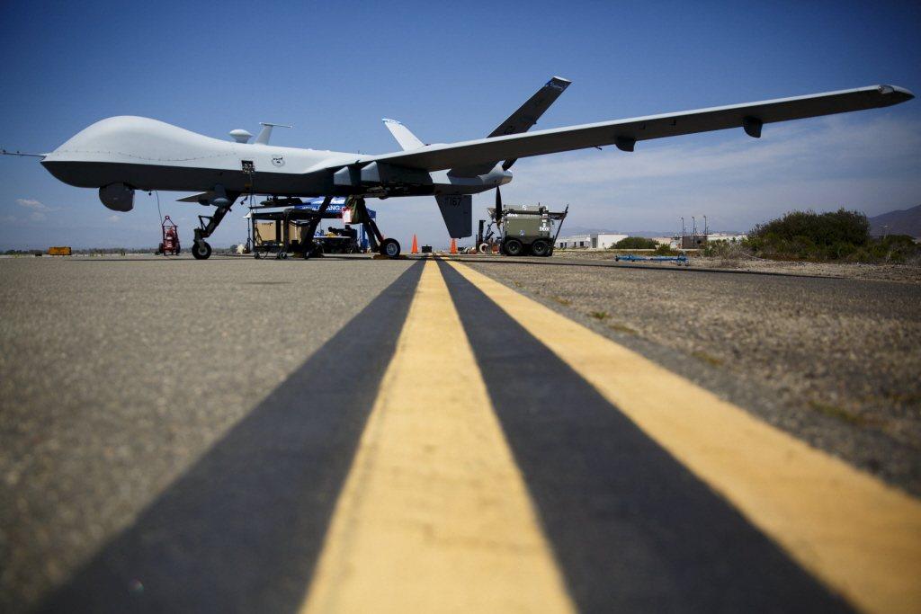 美希望台先採購部分MQ-9B無人機,是為盡快構建能與美軍在戰時可共通的ISR直接能量。圖為MQ-9無人機。 圖/路透社