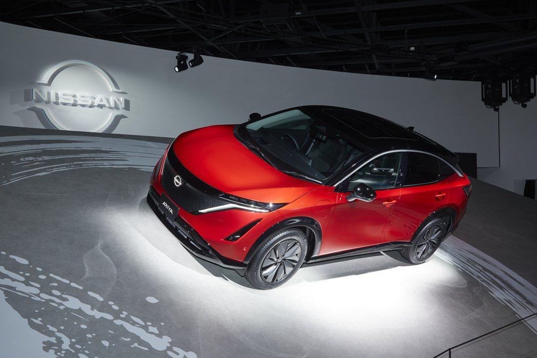 Nissan首款純電休旅Ariya。 摘自Nissan