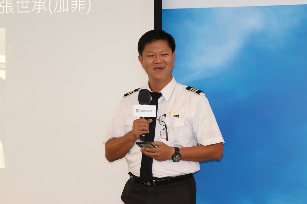 玉山虛擬航空的飛行教官張世承