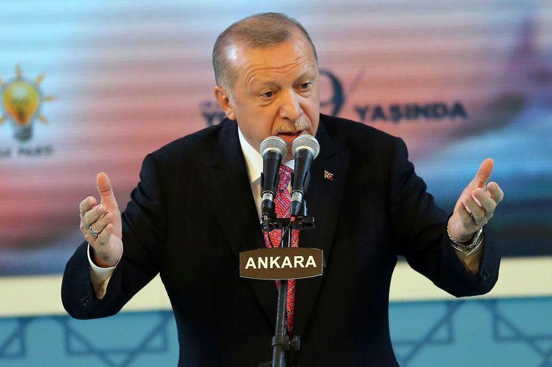 土耳其總統艾爾段。 法新社