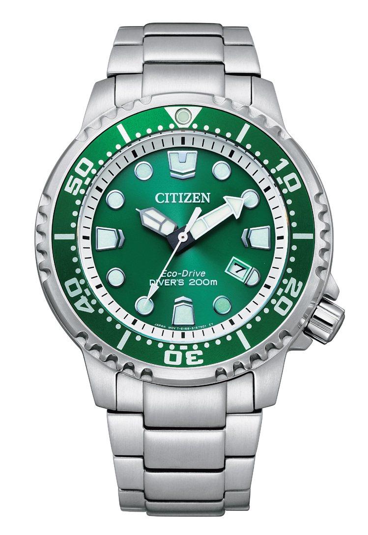 BN0158-85X潛水表,不鏽鋼表殼、表鍊14,900元。圖/CITIZEN提...
