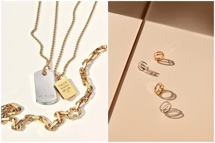 中性設計的珠寶適合戀人互送,還可交換配戴更甜蜜。圖/DE BEERS、TIFFA...
