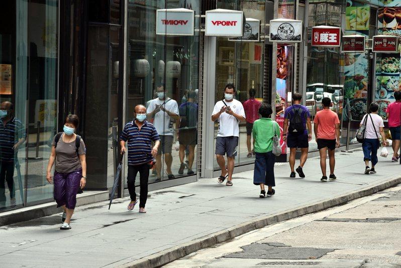 圖為香港銅鑼灣早前街頭景象。新華社
