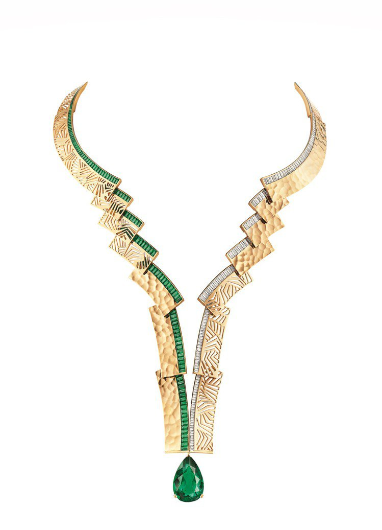 Skyline 18K黃金項鍊,約8000萬元。圖/CHAUMET 提供