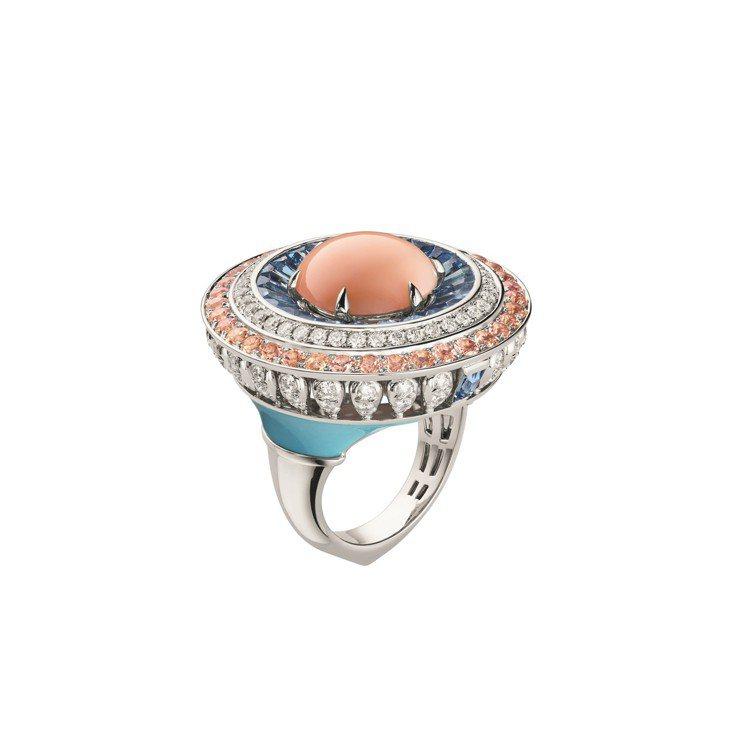 Lux 18K白金戒指,約600萬元。圖/CHAUMET 提供
