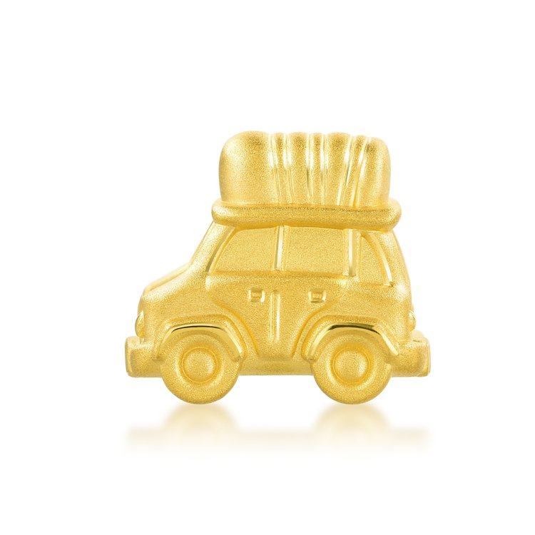 點睛品Charme「童話系列」足金旅行車串飾,10,500元。圖/點睛品提供