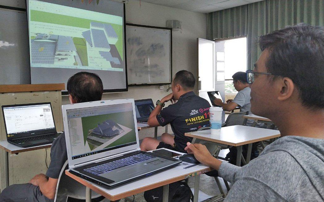 勞動部高屏澎東分署結合高雄市太陽能設備裝修職業工會所開設的「太陽能光電之3D繪圖...